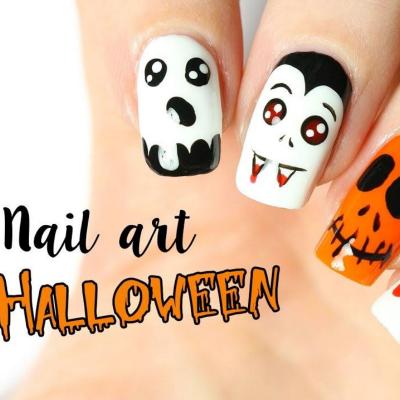 Trouvez une idée de Nail Art Halloween facile et trop mignonne pour vous déguiser jusqu'au bout des ongles. Des idées qui vont plaire à vos petits monstres qui aiment se transformer des pieds à la tête.
