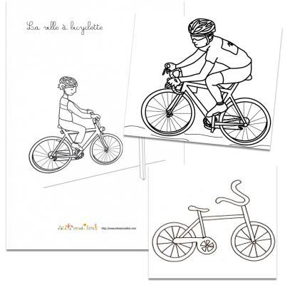 Coloriage vélos dessin vélos
