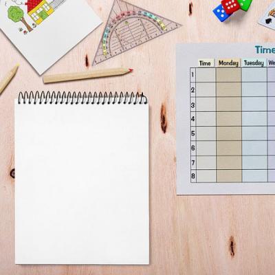 Etiquettes de cahier pour la rentrée