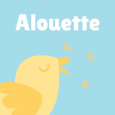 Alouette est une chanson d'origine franco-canadienne, très populaire en France. La chanson alouette est une chanson à récapitulation. À chaque répétition du refrain une partie du corps de l'alouette se fait déplumer. Retrouvez les infos, les paroles et la