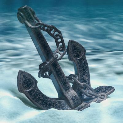Ancre: Mot du glossaire Tête à modeler. Une ancre est un instrument en métal enchaîné au bateau qui est jeté au fond de l'eau pour retenir un bateau.  Activités associ&am