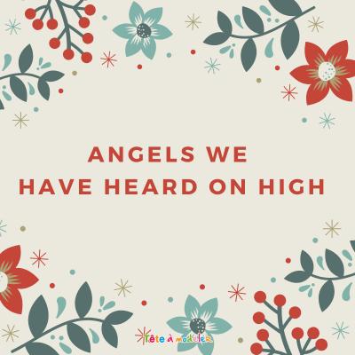 """Angels have heard on high.  Paroles de la chanson pour carnet de chants - Chanson """"Angels We Have Heard On High"""" pour chanter Noel en anglais avec les enfants. Paroles avec version pour carnet de chants. La version anglaise du chant : les anges"""