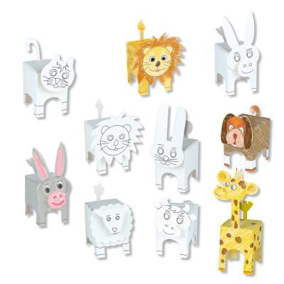 Animaux Paper toys Tête à modeler