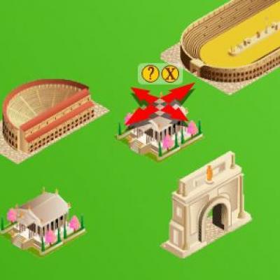 francetv éducation vous propose un jeu éducatif sur les cités romaines