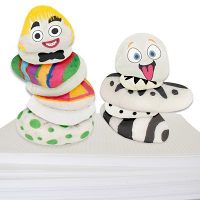 Cailloux décoratifs, décorés de stickers