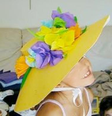 capeline à fleurs
