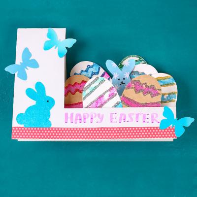 Voici le tuto de notre jolie carte de Pâques 3D qui vous permettra de souhaiter bonne Päques grâce à une carte DIY.