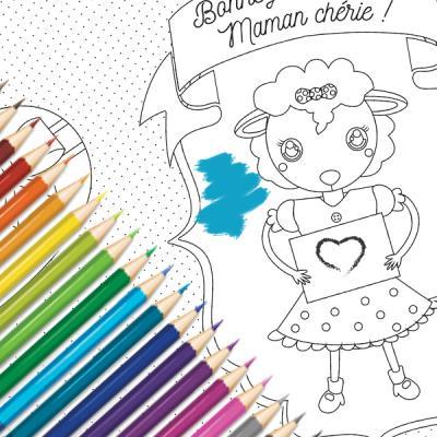 Vous cherchez une carte de fête des mères à colorier ? La fête des mères est l'occasion parfaite pour offrir une jolie carte pleine d'attention à sa maman. Nos cartes de Fête des mères à colorier sont gratuites ! Choisissez une carte, imprimez-la, colorie