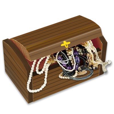 meilleure sélection a6a6f 145d8 Coffre de pirate en bois
