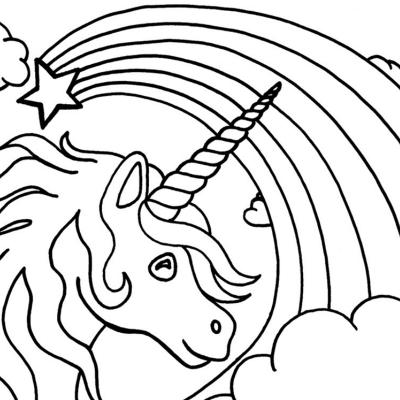 Coloriage Arc en Ciel : les dessins de Tête à modeler