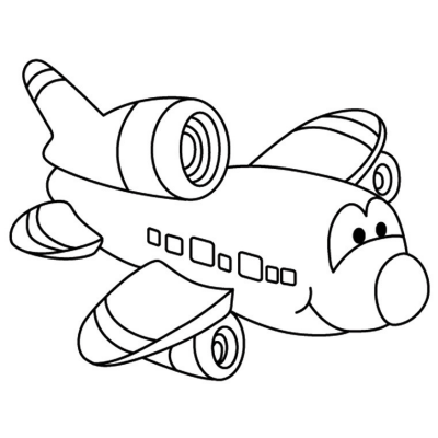 Avion Dessin Coloriage Avion Avec Tete A Modeler