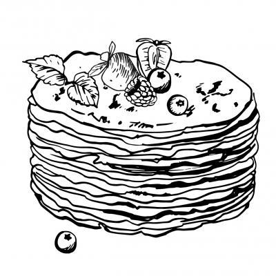 Voici le coloriage chandeleur ! Un dessin à imprimer sur le thème des crêpes et de la chandeleur - Page 3