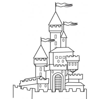 Dessins de châteaux de chevaliers à imprimer. Des coloriages de châteaux de chevalier à imprimer pour le coloriage des enfants. Des coloriages de châteaux de différentes époques sont proposés, à chacun de choisir le château de chevalier de son choix !