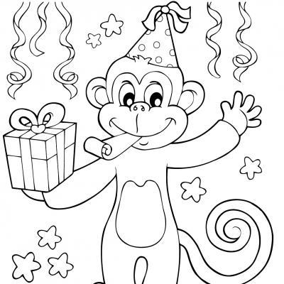 Voici un coloriage de bonne année à imprimer gratuitement. Un dessin à imprimer pour tous les enfants qui veulent mettre de la couleur dans leur nouvelle année. Page 5