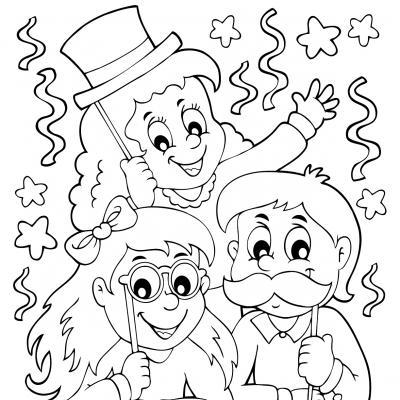 Voici un coloriage de bonne année à imprimer gratuitement. Un dessin à imprimer pour tous les enfants qui veulent mettre de la couleur dans leur nouvelle année. Page 7