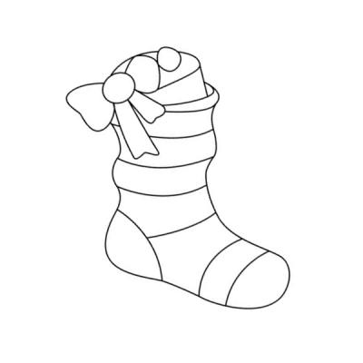 Coloriage botte de Noël & coloriage chaussette de sur Tête à modeler