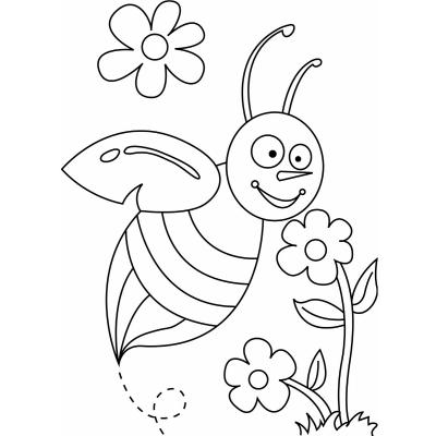 Trouvez un coloriage abeile qui plaire à vos kids grâce à notre sélection de dessins avec des abeilles.