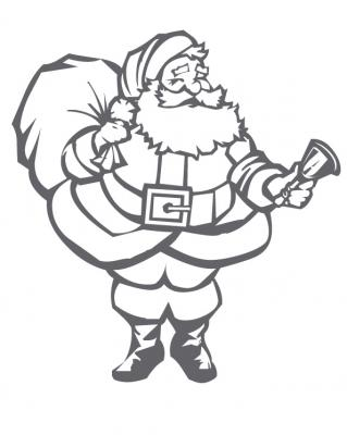 Coloriage du père Noël dans son traineau