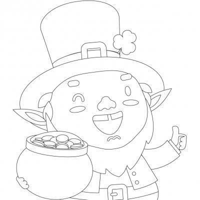 Retrouvez des coloriages à imprimer pour la saint Patrick. Des dessins de Leprechaun, de trèfle à quatre feuilles et de chaudron plein de pièces d'or ... autant de thèmes très symboliques de la saint Patrick. Des dessins à imprimer pour s'amuser et