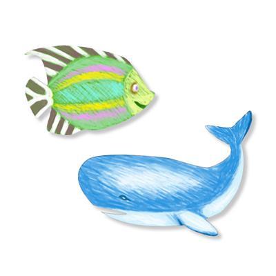 Coloriage de silhouettes d'animaux de la mer