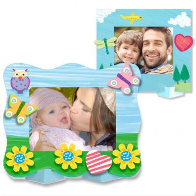 Coloriage d'un cadre photo personnalisable, cadre à personnaliser