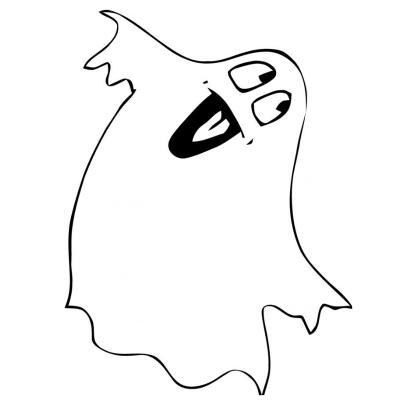 Coloriage Fantôme à Imprimer Avec Tête à Modeler