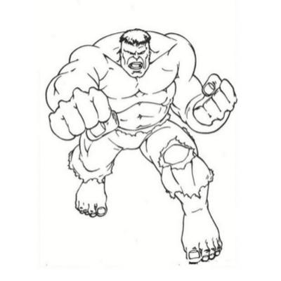 Coloriage Hulk Tous Les Dessins à Imprimer De Tête à Modeler