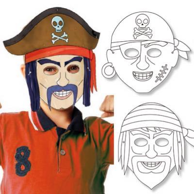 Il est facile de se déguiser en pirate avec ces masques de pirate à colorier. Il est possible de jouer à plusieurs ou d'utiliser chaque masque pour incarner un pirate différent ! Des masques de pirate en carte épaisse à colorier ou à peindre.