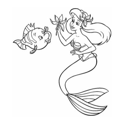 Imprimez un coloriage sirène facilement grâce à notre sélection de dessins sur le thème des sirènes.