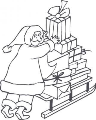 Coloriage Traineau du Père Noël