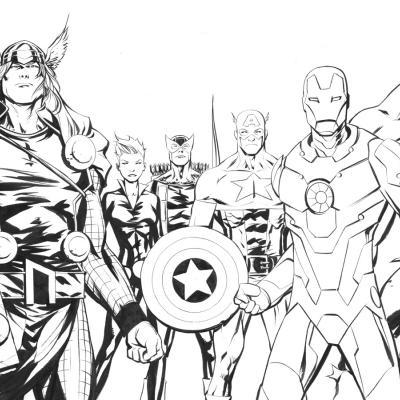 Coloriage des avengers - Super hero coloriage ...