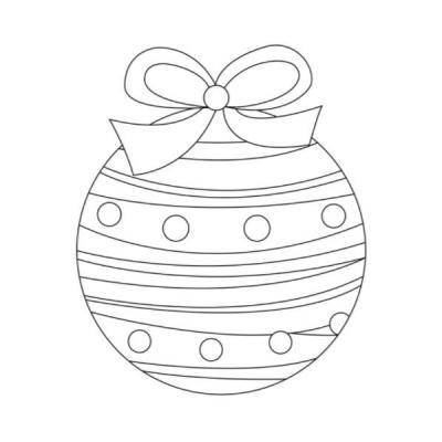 Vous cherchez un coloriage de boule de Noël ? Voici donc une sélection de dessins avec des  boules de Noël à colorier pour Noël.