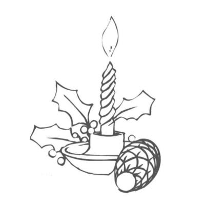 Coloriages de dessins de bougies de Noël. Coloriage de bougies de Noël, symbole de la lumière et de la spiritualité sont importantes pour la fête de Noël. Choisissez le dessin de bougie que vous souhaitez imprimer pour votre enfant.