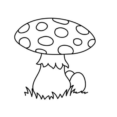 Dessins et coloriages de champignons sur le thème de la saison d'automne . Des coloriages pour parler de la saison d'automne , des c...