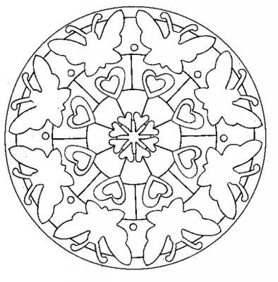Dessins de Mandalas indiens. Le coloriage de mandalas aide les enfants à apprendre la concentration aux enfants. Cette série de mandalas est inspirée de motifs graphiques traditionnels.