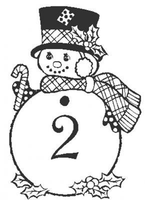 Coloriages des chiffres de Noël