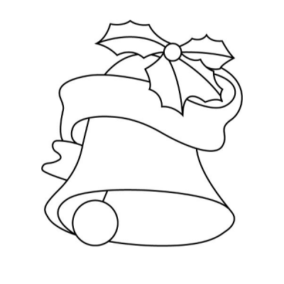 Coloriages de cloches de Noël   coloriage Noël Tête à modeler