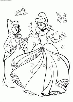 Coloriages des contes de fées