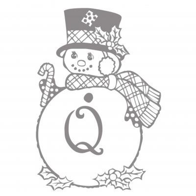 Lettre de l'alphabet illustrée d'un bonhomme de neige à imprimer pour l'apprentissage du nom des lettres. Une façon amusante d'apprendre son alphabet.