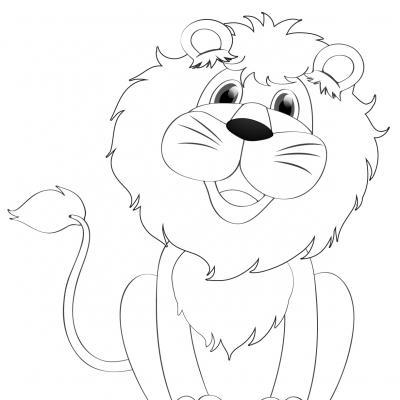 Dessins de lions, lionnes et lionceaux pour le coloriage de ces animaux sauvages de la savane. Coloriages des grands félins.