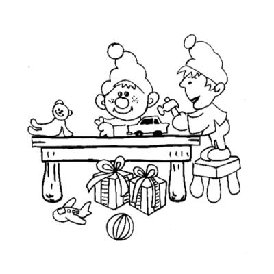Collection de coloriages des lutins du Père Noël   Tête à modeler