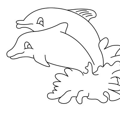Dessins à colorier des mammifères vivant dans la mer. Activité de coloriage pour découvrir les mammifères marins comme les baleines, les dauphins ou encore les cachalots.