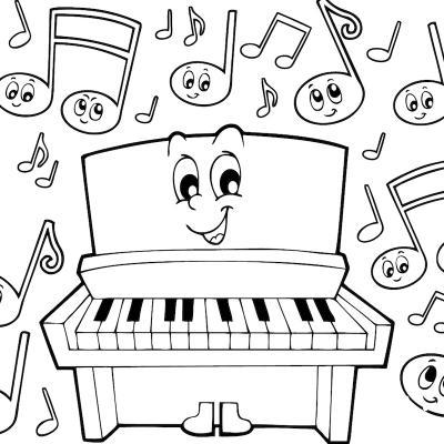Coloriages D Instruments De Musique Et Sur L Univers De La Musique Tete A Modeler