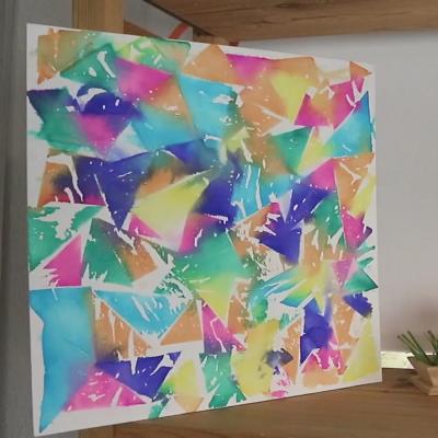 Comment r aliser un beau tableau avec du papier de soie - Realiser un tableau ...