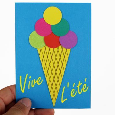 Des idées de cartes postales à fabriquer avec ses enfants pendant les grandes vacances.