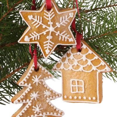 Décorations de Noël en pain d'épices