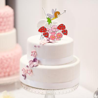 Idées et éléments à imprimer pour décorer un gâteau de fée. Décoration d'un gâteau pour un anniversaire sur le thème des fées.