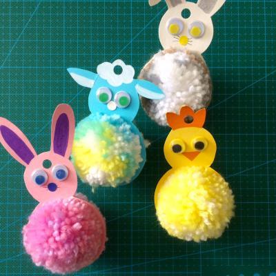 Un tuto pour apprendre à fabriquer ces animaux de Pâques en suspension