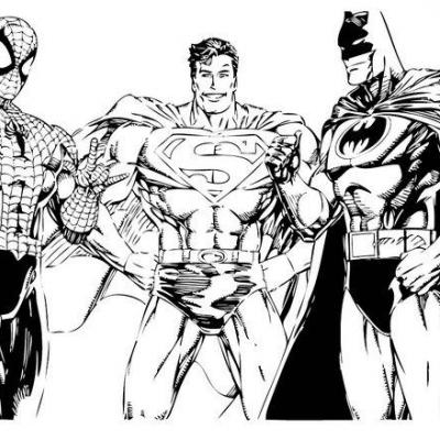Coloriage super h ros - Superman et batman dessin anime ...