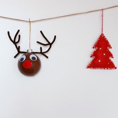Un tuto pour réaliser une boule de Noël renne